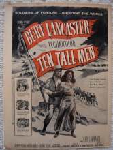 Ten Tall Men (1951) - Burt Lancaster - Vintage Trade Ad